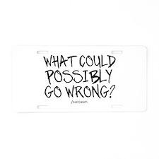 '/Sarcasm' Aluminum License Plate