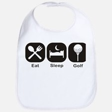 Eat, Sleep, Golf Bib