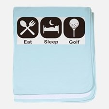 Eat, Sleep, Golf baby blanket