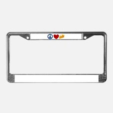 Peace Love Pumpkin Pie License Plate Frame