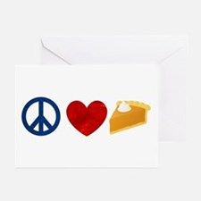 Peace Love Pumpkin Pie Greeting Cards (Pk of 20)