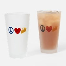 Peace Love Pumpkin Pie Drinking Glass