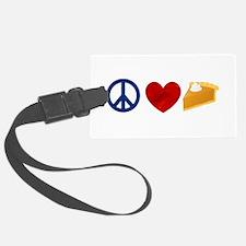 Peace Love Pumpkin Pie Luggage Tag