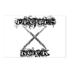 Flutes Rock Postcards (Package of 8)