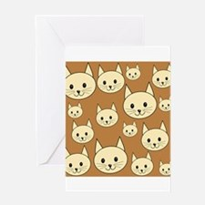 Cats. Neutral Colors. Greeting Card
