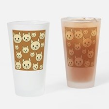 Cats. Neutral Colors. Drinking Glass