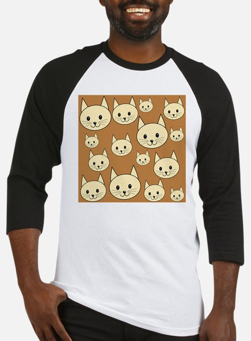 Cats. Neutral Colors. Baseball Jersey