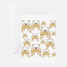Tan Color Bulldogs. Greeting Card