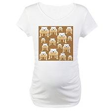 Tan Bulldogs on Brown Shirt