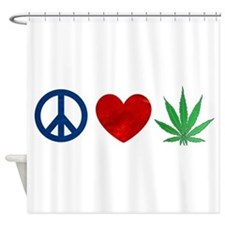 Peace Love Weed Shower Curtain