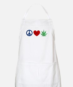 Peace Love Weed Apron