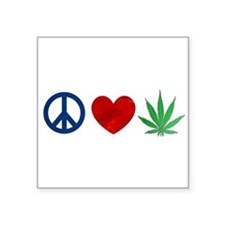 Peace Love Weed Sticker