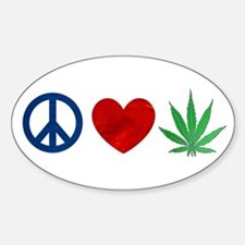 Peace Love Weed Decal