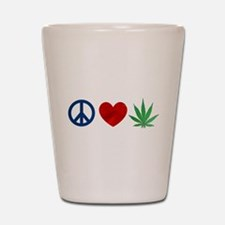 Peace Love Weed Shot Glass