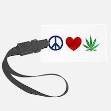 Peace Love Weed Luggage Tag