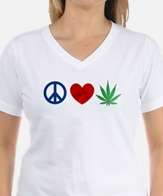 Peace Love Weed T-Shirt