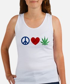 Peace Love Weed Tank Top