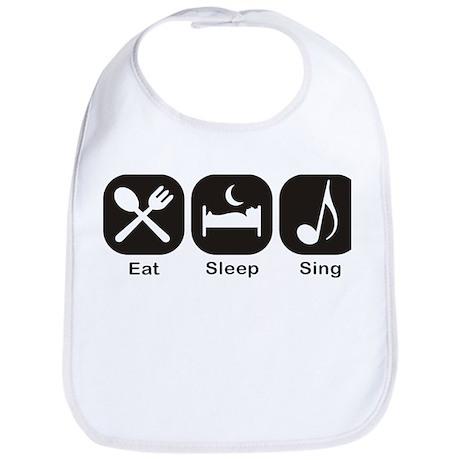 Eat, Sleep, Sing Bib