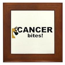 C Fawn Cancer Bites Framed Tile