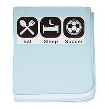 Eat, Sleep, Soccer baby blanket