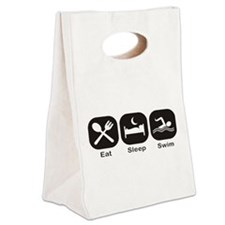 Eat, Sleep, Swim Canvas Lunch Tote