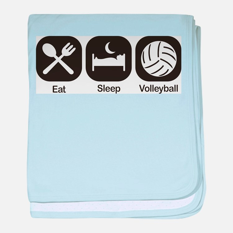eat sleep volleyball baby blankets personalized baby