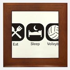 Eat, Sleep, Volleyball Framed Tile