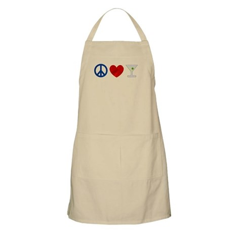 Peace Love Martini Apron
