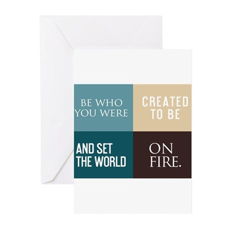 card be who you were created to be Greeting Cards