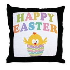 Happy Easter Chicken Throw Pillow