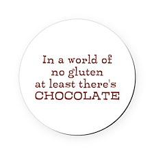 World of no gluten Round Coaster