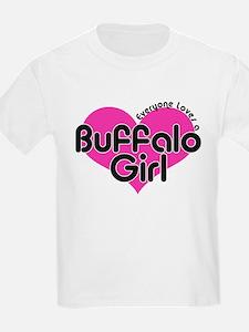 Everyone Loves a Buffalo Girl Kids T-Shirt