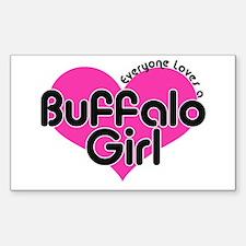 Everyone Loves a Buffalo Girl Sticker (Rectangular