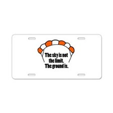 'Not The Limit' Aluminum License Plate