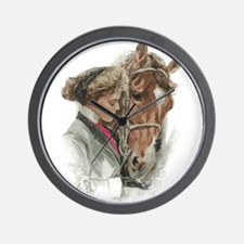 Vintage Girl And Horse Wall Clock