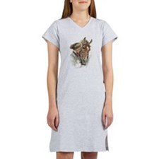 Vintage Girl And Horse Women's Nightshirt