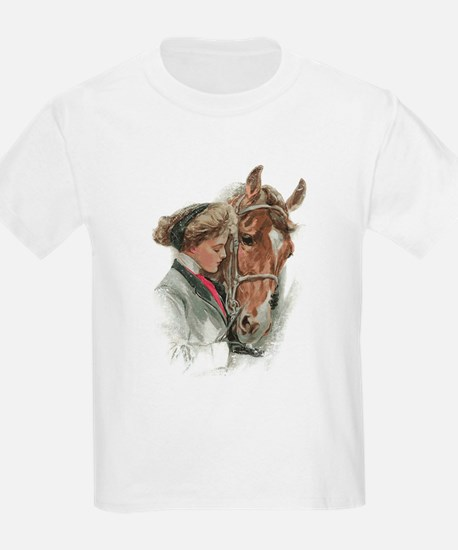 Vintage Girl And Horse T-Shirt