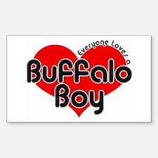 Everyone Loves a Buffalo Boy Rectangle Decal