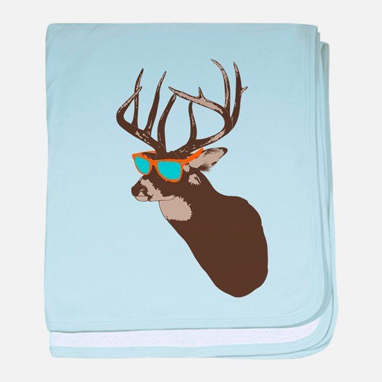 Cool Buck baby blanket