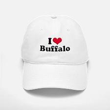 I Love Buffalo (with snow) Baseball Baseball Cap