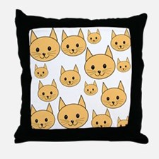 Ginger Cats. Throw Pillow