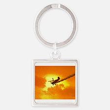 Wingwalker 2 Orange (signed).jpg Square Keychain