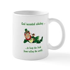 God invented whiskey... Mug