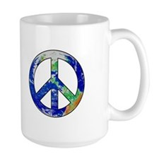 Earth Peace Sign Mug