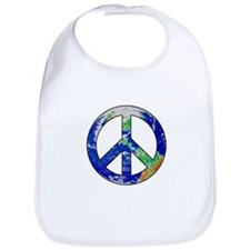 Earth Peace Sign Bib