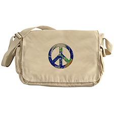 Earth Peace Sign Messenger Bag