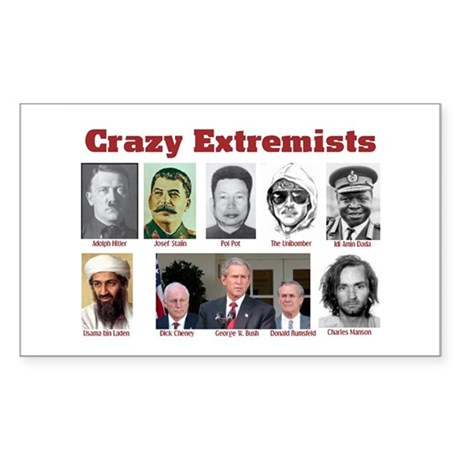Crazy Extremists Rectangle Sticker