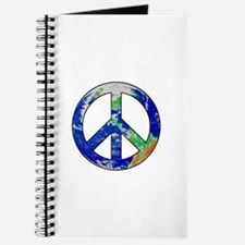 Earth Peace Sign Journal