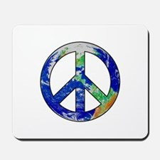 Earth Peace Sign Mousepad