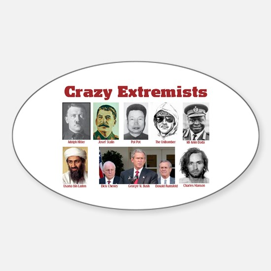 Crazy Extremists Oval Decal
